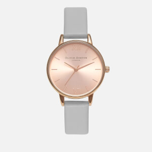 Olivia Burton Women's Sunray Midi Dial Watch - Grey/Rose Gold