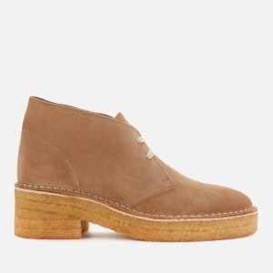 Clarks Originals Women's Arisa Desert Suede Heeled Boots - Dark Sand