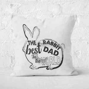 Rabbit Dad Square Cushion