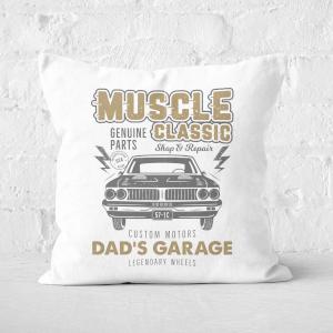 Dad's Garage Square Cushion