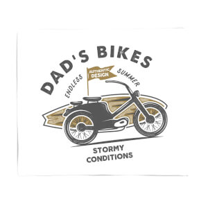 Dad's Bikes Fleece Blanket
