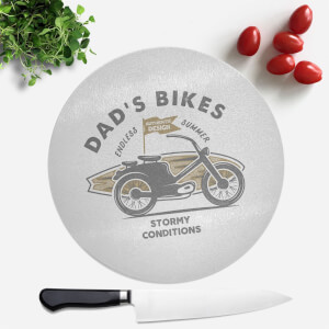 Dad's Bikes Round Chopping Board