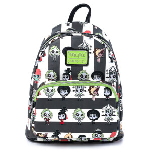 Loungefly Beetlejuice Group Chibi Aop Mini Backpack