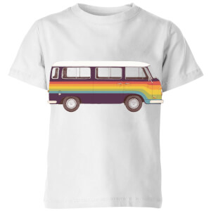 Rainbow Van Kids' T-Shirt - White