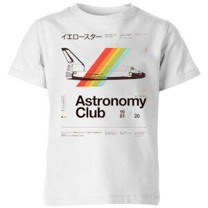 Astronomy Club Kids' T-Shirt - White