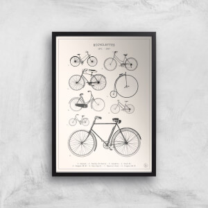 Bicyclettes Giclee Art Print