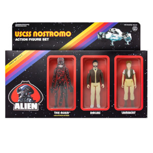 Super7 Alien ReAction Figure - Pack C (Dallas, Lambert, Bloody Alien) Action Figure