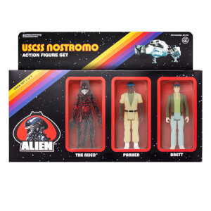 Super7 Alien ReAction Figure - Pack B (Brett, Parker, Open Mouth Alien) Action Figure