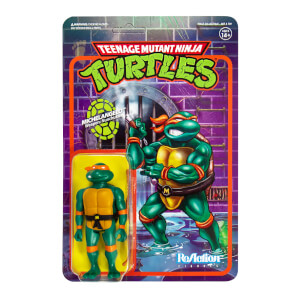 Super7 Teenage Mutant Ninja Turtles ReAction Figure - Michelangelo Action Figure