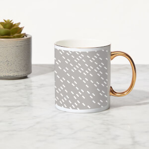 Speckles Bone China Gold Handle Mug