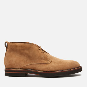 Tod's Men's Light Casual Suede Desert Boots - Cookie