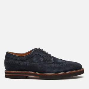 Tod's Men's Suede Derby Shoes - Night