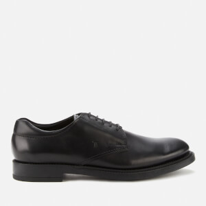 Tod's Men's Leather Derby Shoes - Black