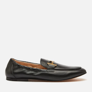 Tod's Women's Double T Leather Loafers - Black