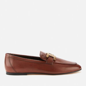 Tod's Women's Chain Leather Flats - Teak