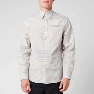 Lanvin Men's Checkered Shirt - Blue/Green