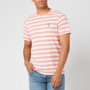 Barbour Beacon Men's Bow Stripe T-Shirt - Burnt Coral