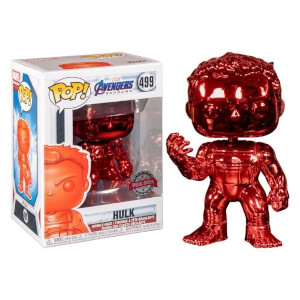 Marvel Avengers 4 Red Chrome Hulk EXC Funko Pop! Vinyl