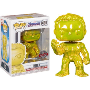 Marvel Avengers 4 Yellow Chrome Hulk EXC Funko Pop! Vinyl