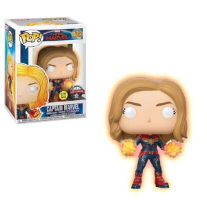 Marvel Captain Marvel Hand GITD EXC Pop! Vinyl Figure