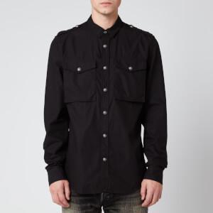 Balmain Men's Gabardine Shirt - Black