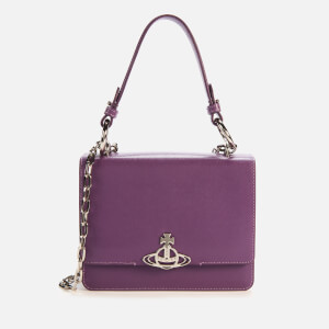 Vivienne Westwood Women's Debbie Medium Bag with Flap - Purple