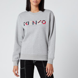 KENZO Women's Classic Fit SW KENZO Logo - Pearl Grey