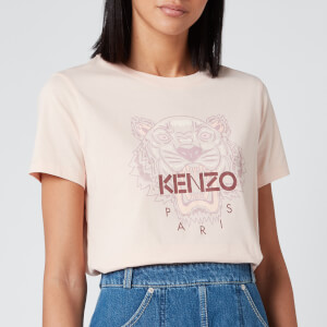 KENZO Women's Icon Tiger T-Shirt Classic - Faded Pink
