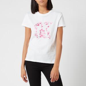 Karl Lagerfeld Women's Orchid K Print T-Shirt - White