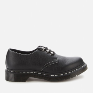 Dr. Martens Women's 1461 Pascal Hdw Virginia Leather 3-Eye Shoes - Black