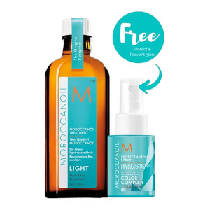 Moroccanoil Treatment Light with Free Protect & Prevent Spray (Worth £41.70)