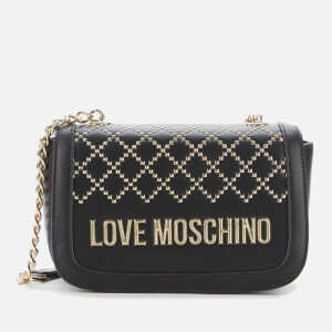 Love Moschino Women's Quilt Stud Detail Shoulder Bag - Black