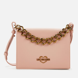 Love Moschino Women's Chain Detail Shoulder Bag - Pink