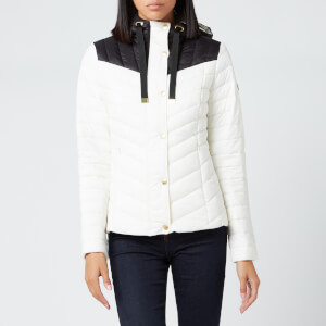 Barbour International Women's Lightning Quilted Jacket - White