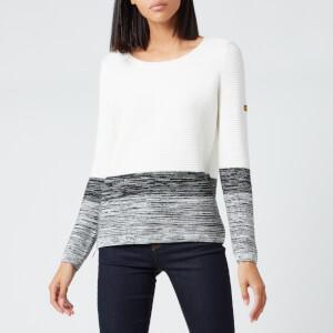 Barbour International Women's Thunderbolt Knitted Jumper - Off White