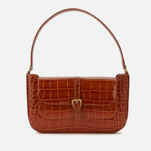 by FAR Women's Miranda Croco Shoulder Bag - Tan
