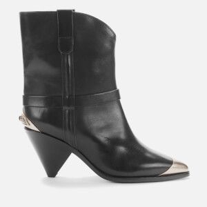 Isabel Marant Women's Limza Leather Heeled Western Boots - Black