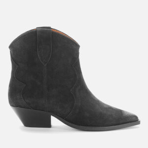Isabel Marant Women's Dewina Leather Western Boots - Black