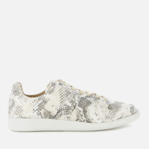 Maison Margiela Men's Replica Leather Low Top Trainers - Grey Shade/White Painter
