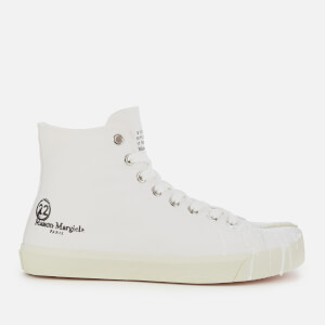 Maison Margiela Men's Tabi Canvas Trainers - White