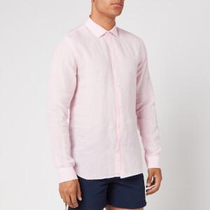Orlebar Brown Men's Giles Linen Shirt - Pale Pink