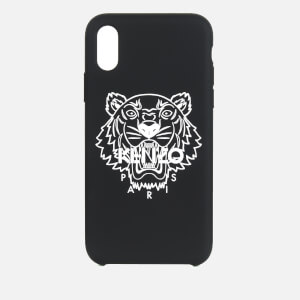 KENZO Men's iPhone X/XS Silicone Tiger Phone Case - Black