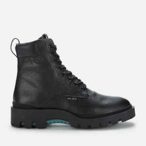 Coach Men's Citysole Pebbled Leather Lace Up Boots - Black