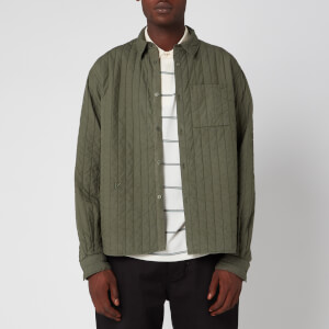 KENZO Men's Quilted Shirt - Fern
