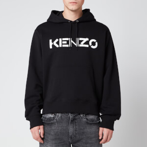 KENZO Men's Bi-Colour Logo Hoodie - Black