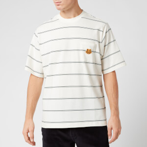 KENZO Men's Seasonal Striped T-Shirt - Ecru