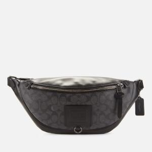 Coach Men's Rivington Belt Bag Signature Print - Charcoal