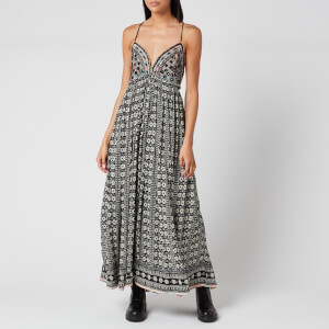 Free People Women's Good Vibes Midi Dress - Black Combo