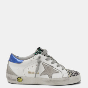 Golden Goose Deluxe Brand Kids' Superstar Trainers - White/Silver/Multi Leopard