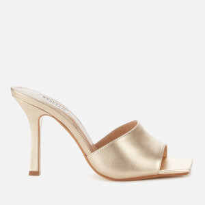Dune Women's Mantra Leather Heeled Mules - Gold